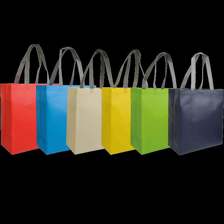 grand Sac pelliculé shopping personnalisable non tissé couleur