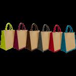 sac personnalisé professionnel en jute bicolore